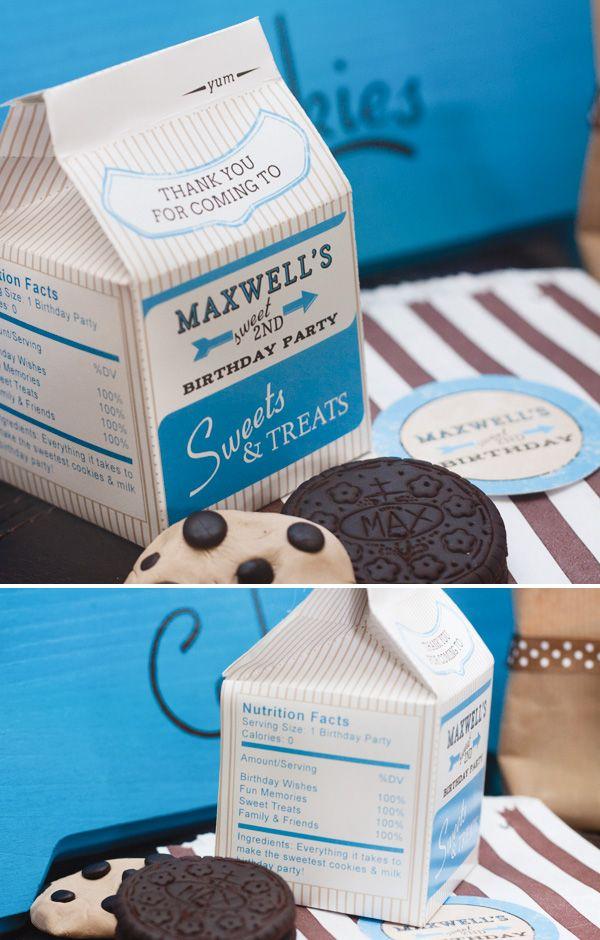 Vintage Milk & Cookies Party by Banner Events. Printables by Anders Ruff Custom Designs.
