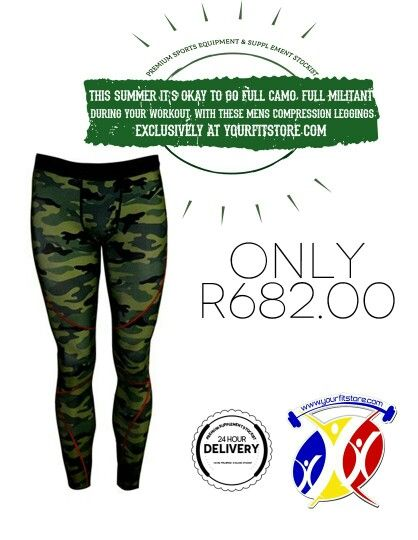 Get your camo on this summer! Check out these MENS COMPRESSION LEGGINGS that can be used for various training and excercise activities. It's super light and allows for greater movement. Get yours today at yourfitstore.com  *24/7 shopping hours *Delivery direct to you *Thousands of products  * yourfitstore.com  #men #leggings #gym #training #excercise #summer #camo #gear #fitness