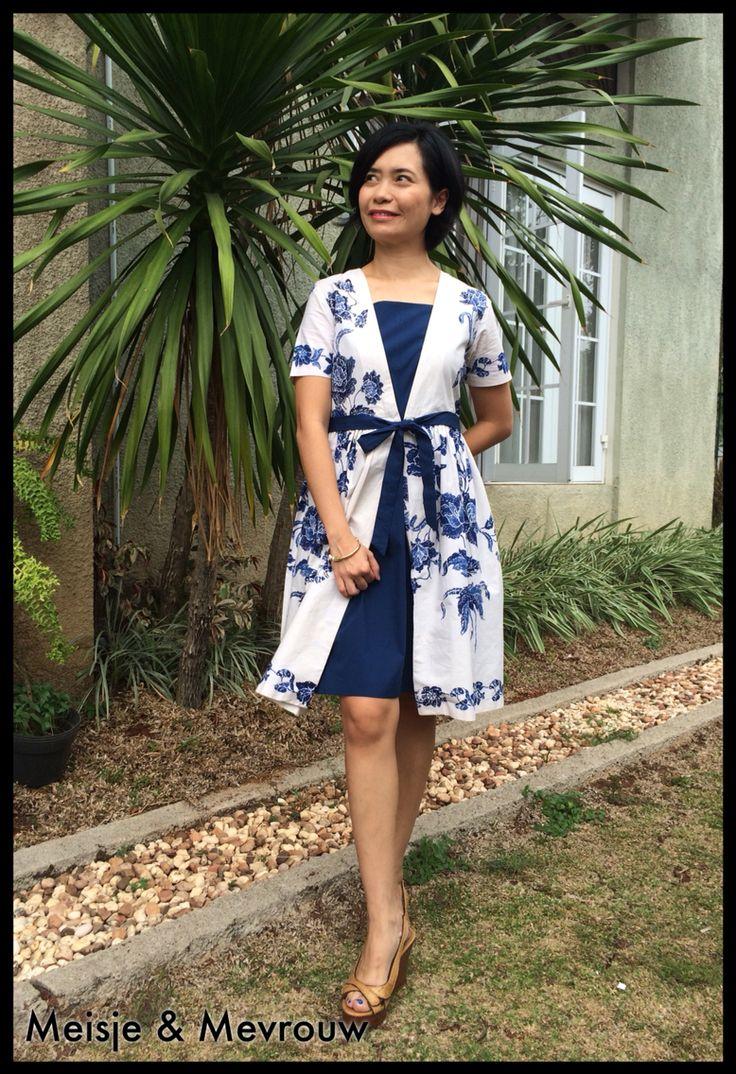 Delft blau dress made of batik cap Pekalongan.