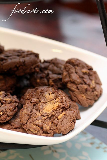 Chocolate Cake Reeses Peanut Butter Chunk Cookies by Food Snots - this ...