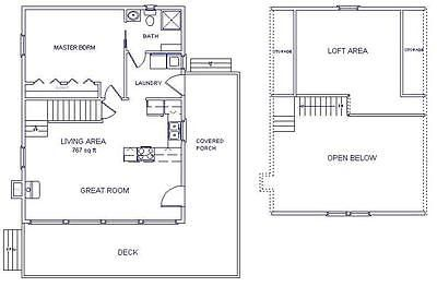 Details about cabin w loft 24x32 plans package blueprints for 24x32 house plans