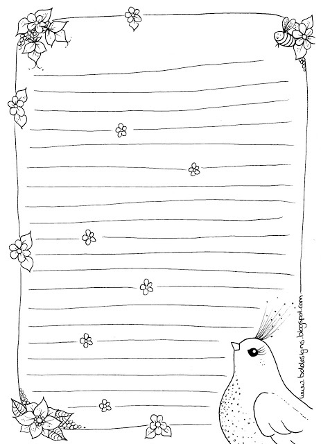 FREE Notepaper Printable from B.D.Designs