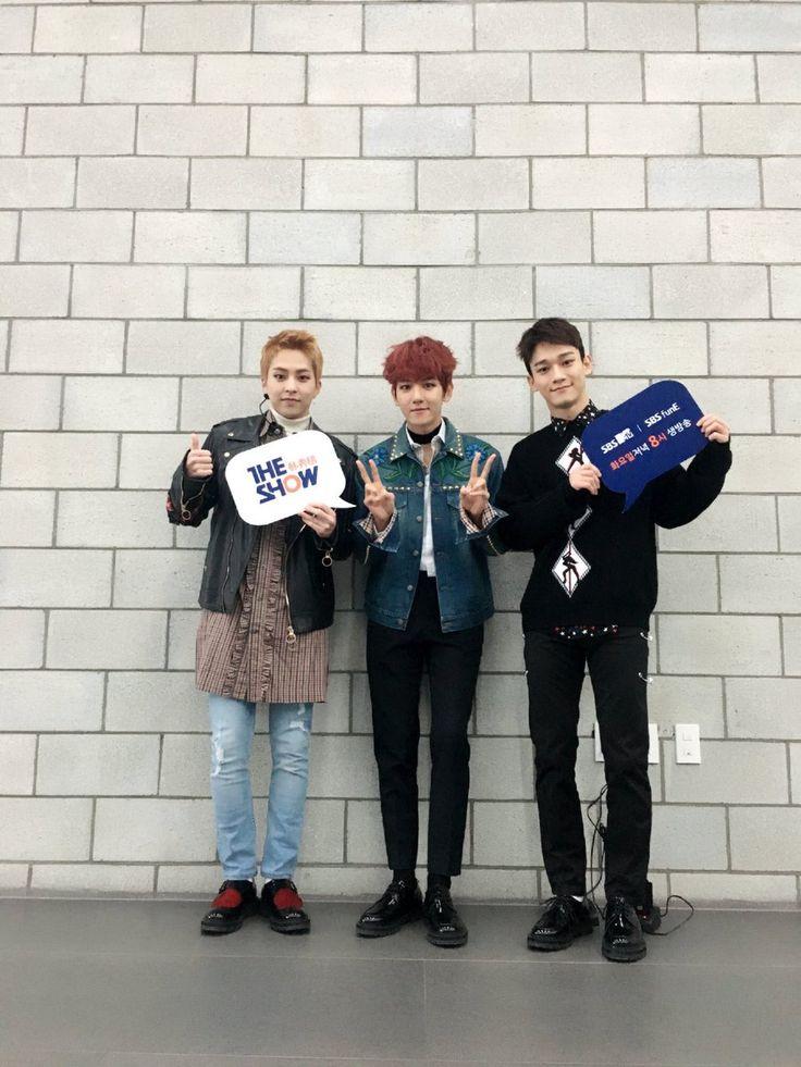 Xiumin, Baekhyun, and Chen, EXO-CBX