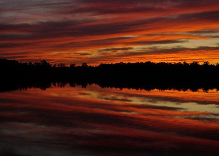 3. Sunset at Atsion Lake.