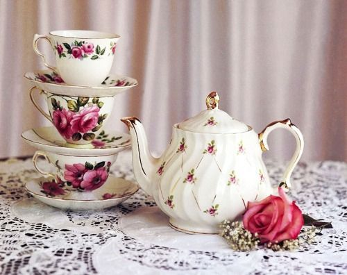 rose porcelain Giclee Print pink chinaware