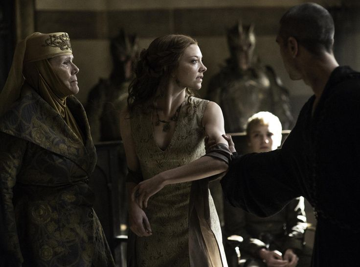 Olenna Tyrell (Diana Rigg), Margaery Tyrell (Natalie Dormer), Tommen Baratheon (Dean-Charles Chapman) from Holy Mother of Dragons! All the Epic Game of Thrones Season 5 Moments