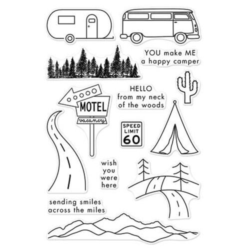 Hero Arts Clear Stamps ROAD TRIP CL973   Quilty: Simple ...
