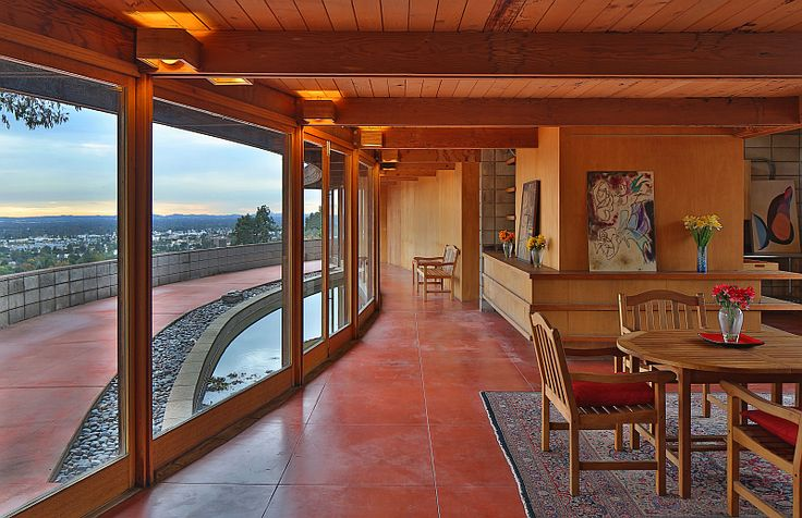 Wilbur c pearce house 1950 bradbury california usonain for Frank lloyd wright houses in california