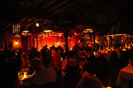The Heath at the McKittrick Hotel, NY. Upscale, gastro, bar, live music, elevated comfort foods