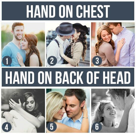 Pose Ideas for Couples: Hand On Chest & Hand On Back Of Head