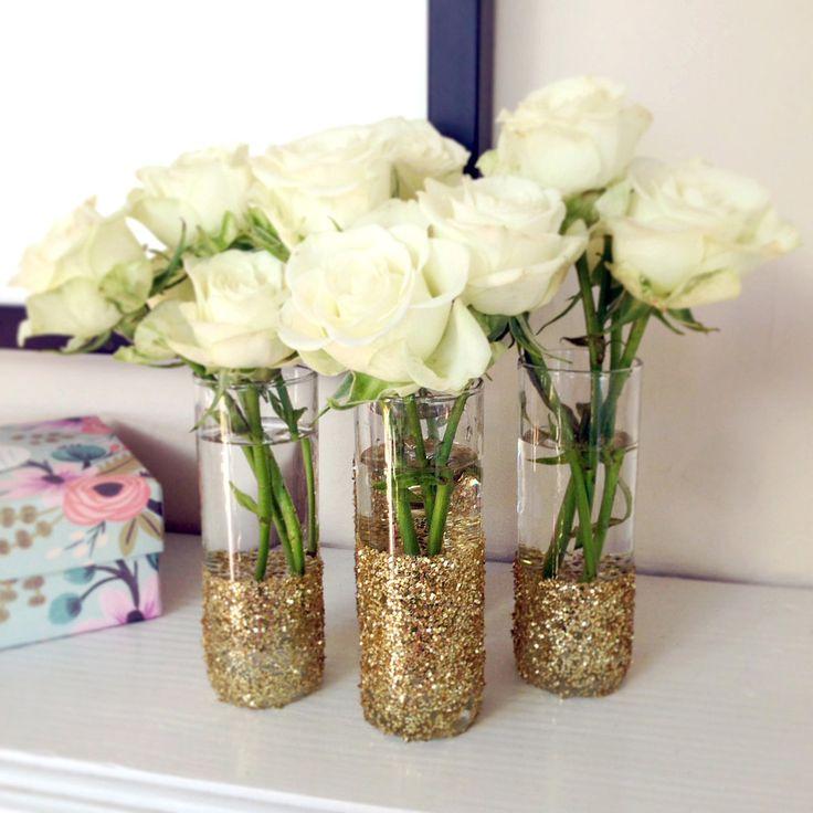 DIY : des vases joliment pailletés pour décorer des centres de table                                                                                                                                                                                 Plus