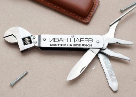 Именной универсальный нож - фото