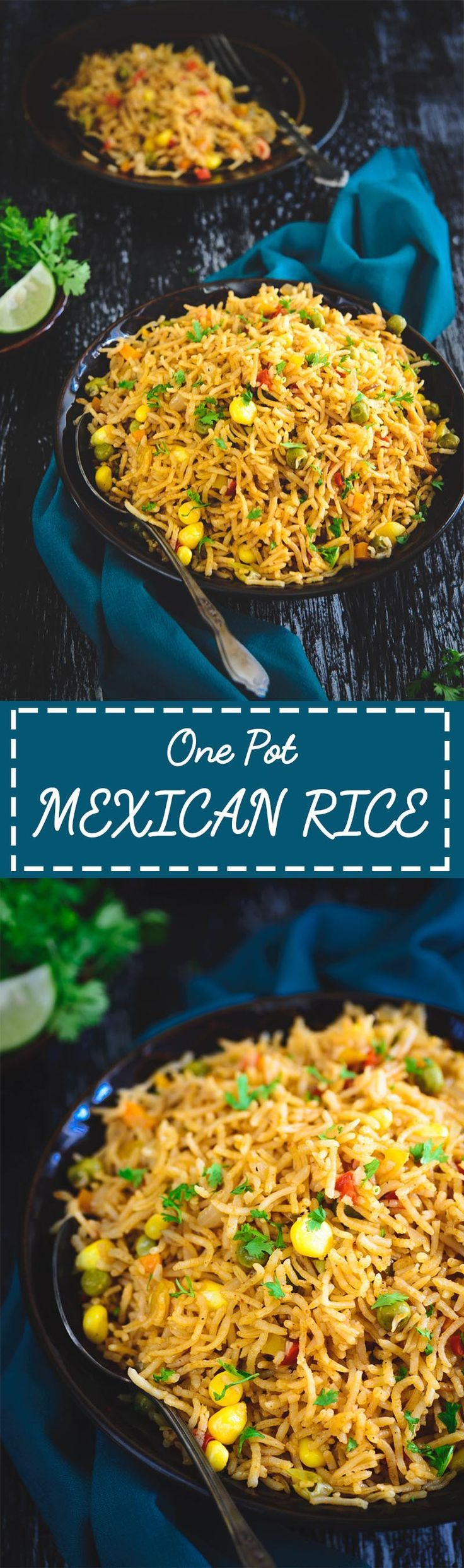 One Pot Mexican Rice is a delicious rice based dish. Full of vegetables and other healthy ingredients, this is fantastic to make for family meals. #Mexican #Rice #Dinner #Recipe