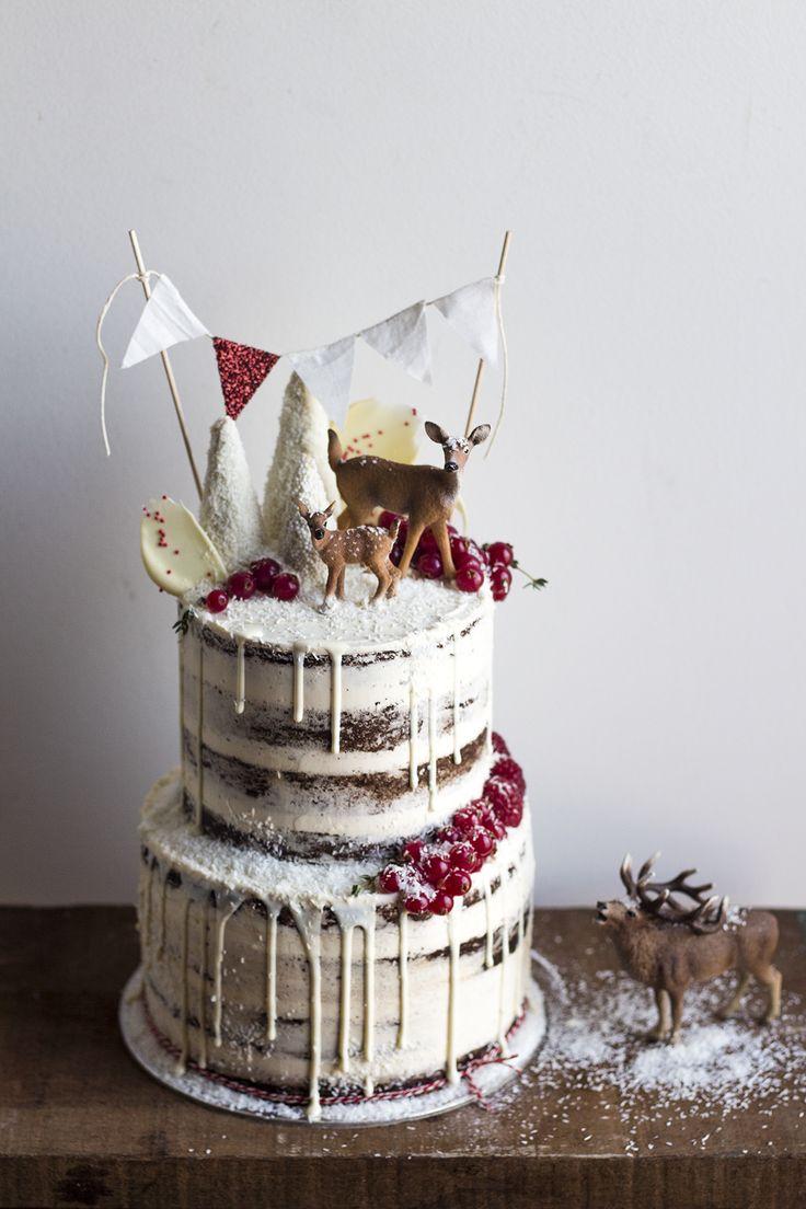Woodland Christmas Cake   Migalha Doce