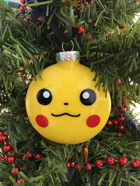 Pikachu Ornament Pokemon Ornament Pokemon Gift by BallyandLis