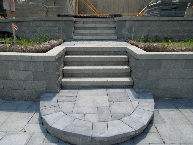 Beautiful Cambridge Pavingstones steps and patio ...