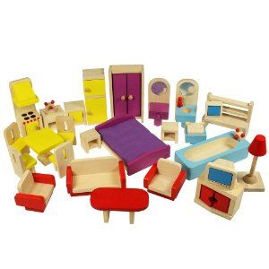 Bigjigs Heritage Playset Doll House Furniture