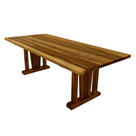 Naturally Timber 'Kobe' dining table - Blackheart Sassafras, three-quarter view (1)