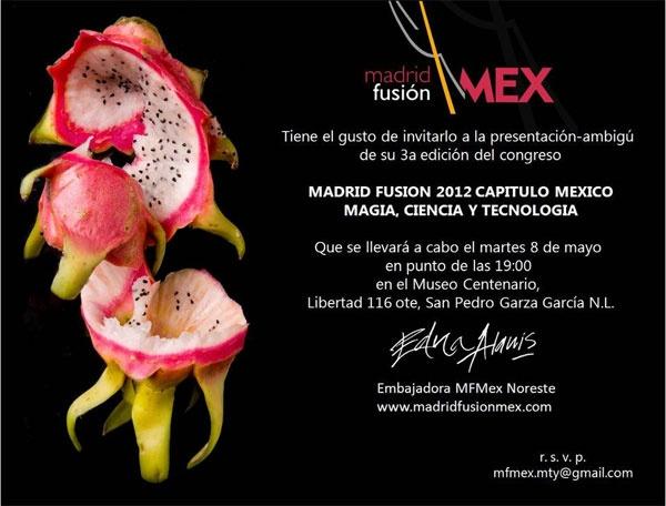 Madrid fusión México 2012  http://www.culturamas.es/ocio/2012/06/06/madrid-fusion-mexico-2012/