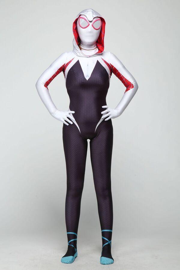 Venom Spider Gwen Stacy Spandex Halloween Women Cosplay Tight Costume Elastic US