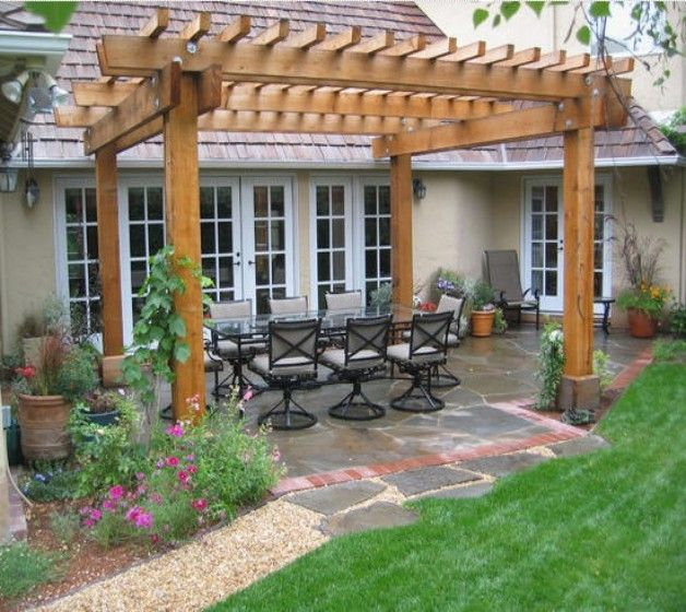 Beautiful And Modern Outdoor Furniture Garden Ideas: Pergola Garden Furniture Ideas