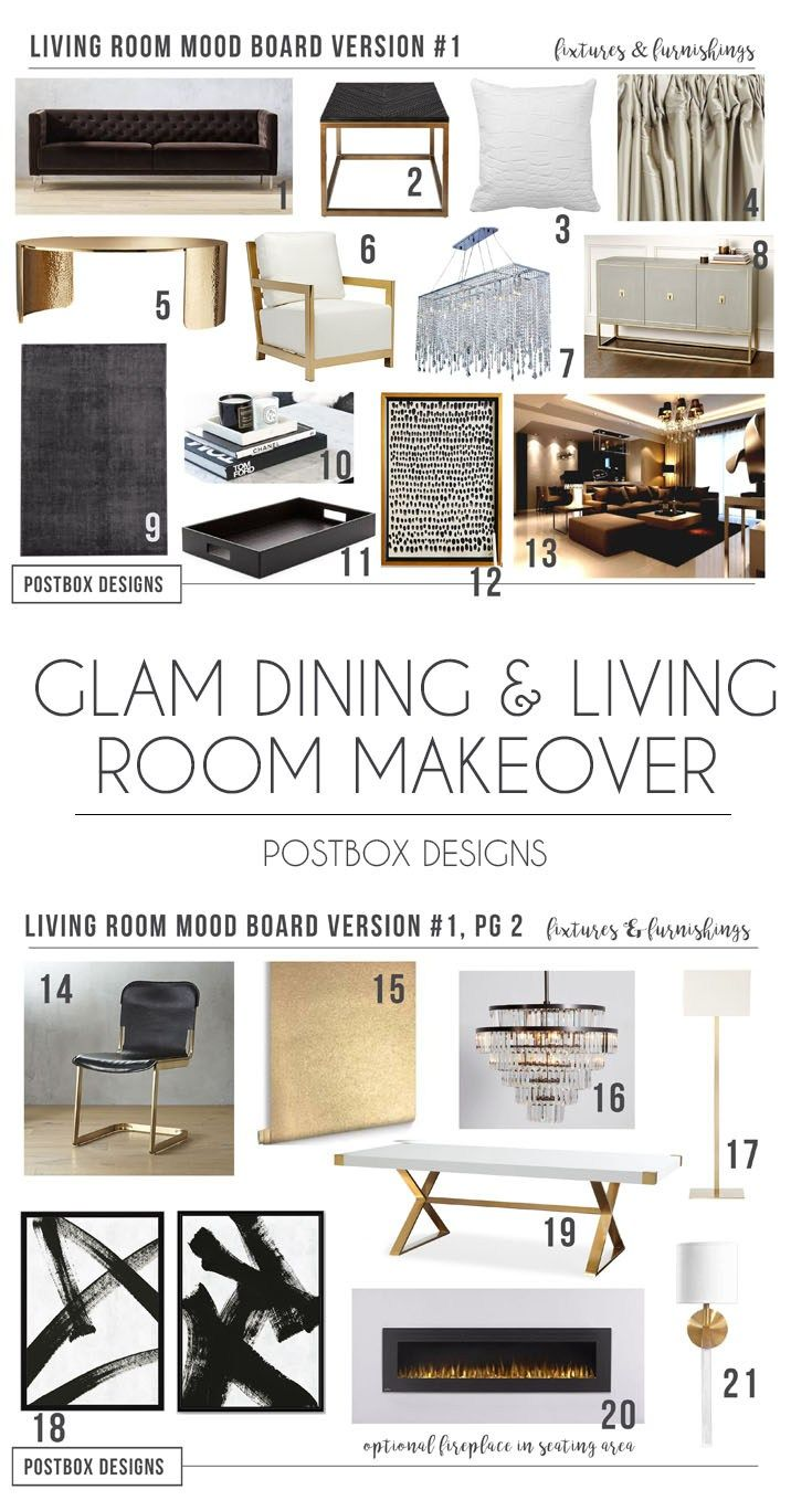 Postbox Designs Interior E Design Sophisticated Glam Living Room Makeover Neutral And Modern Online