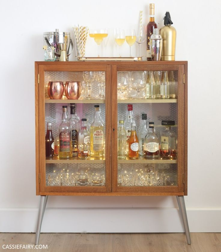 How to DIY a retro cocktail cabinet for your festive parties