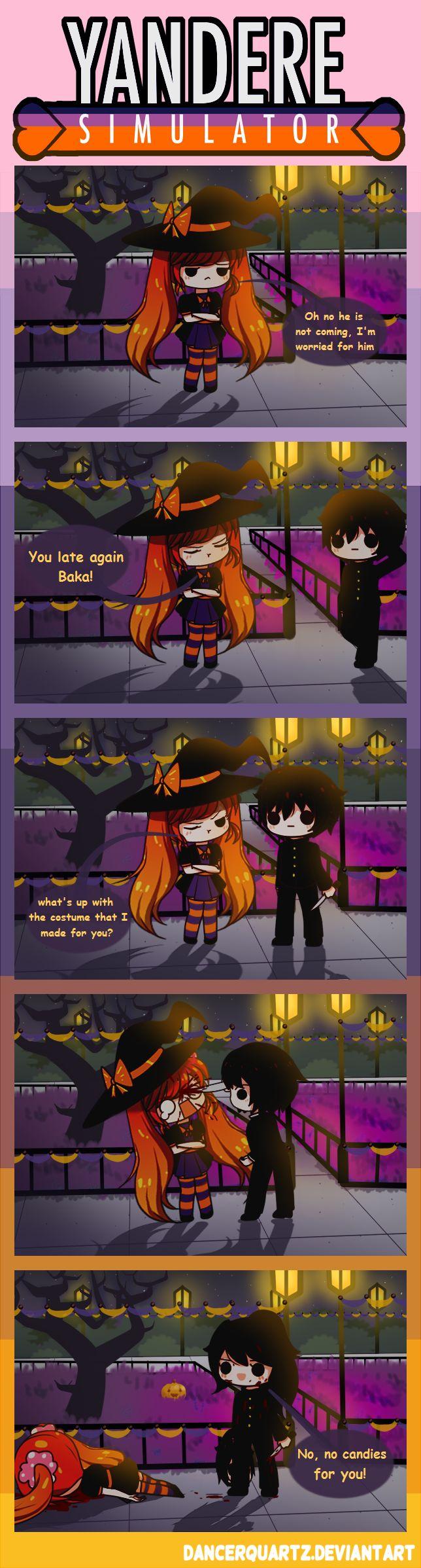 Yandere Comic - The killer Senpai by DancerQuartz on DeviantArt
