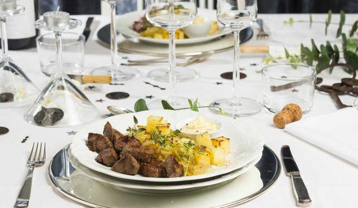Ännu lyxigare variant av pyttipanna här serverad med älgkött istället för oxfilé eller entrecôte som klassikern.
