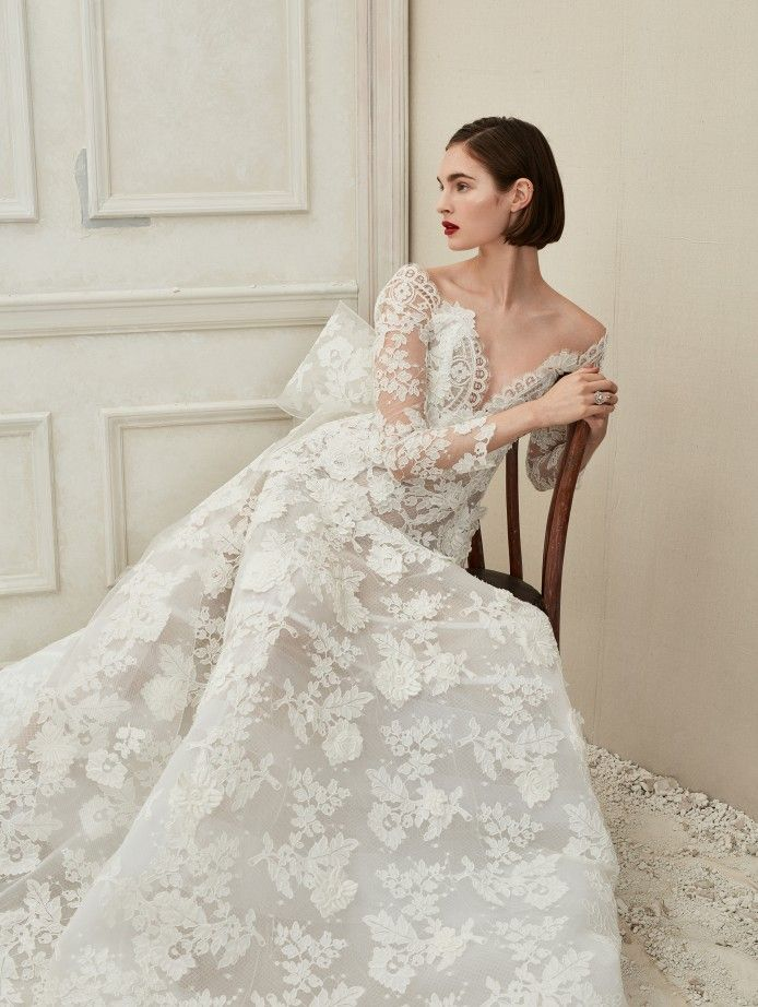 5a860fe28 Bridal Fall 2019 Collection Look 10