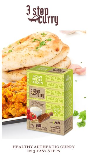 our new 3 step curry range is on the shelves -10 great authentic curries to choose from