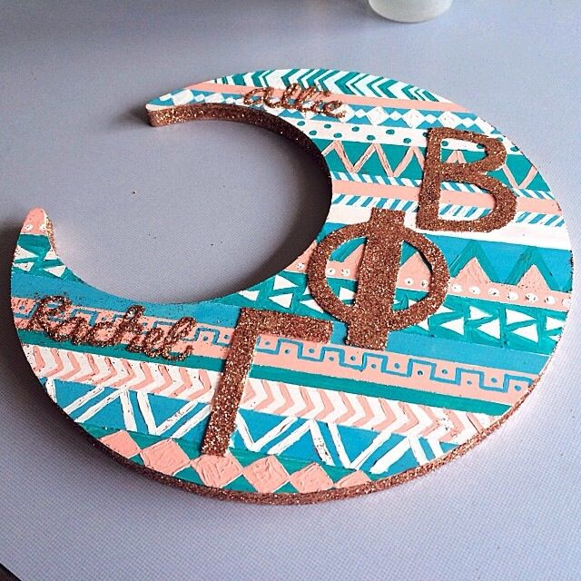 Gamma Phi Beta big little crafts!