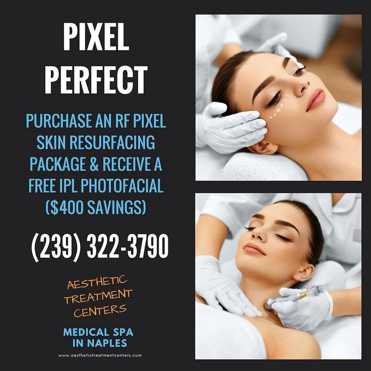 Check out these savings! Purchase and RF Pixel skin resurfacing package & receive a FREE IPL photofacial ($400 in savings!) Call today to schedule your appointment.  #AestheticTreatmentCenters #NaplesFL #MedSpa #NonInvasive #SkinResurfacing #Pixel #Photofacial #Facial #Savings #SpecialOffer