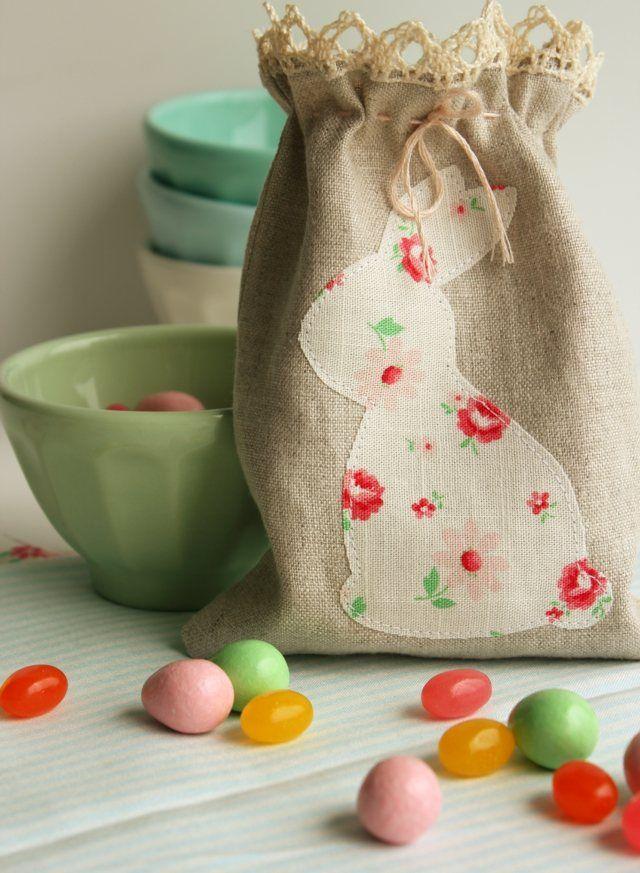 Osterhase Zuckertüte süße Idee selber nähen
