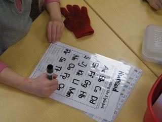 Handwriting tracer sheets.