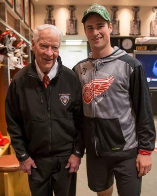 Mr Hockey Gordie Howe and Dylan Larkin | Red Wings celebrate Howe's 88th Birthday