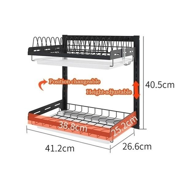 Wall Mounted 304 Stainless Steel Kitchen Dish Drain Rack Black Wish In 2020 Stainless Steel Kitchen Kitchen Dishes Dish Rack Organizer
