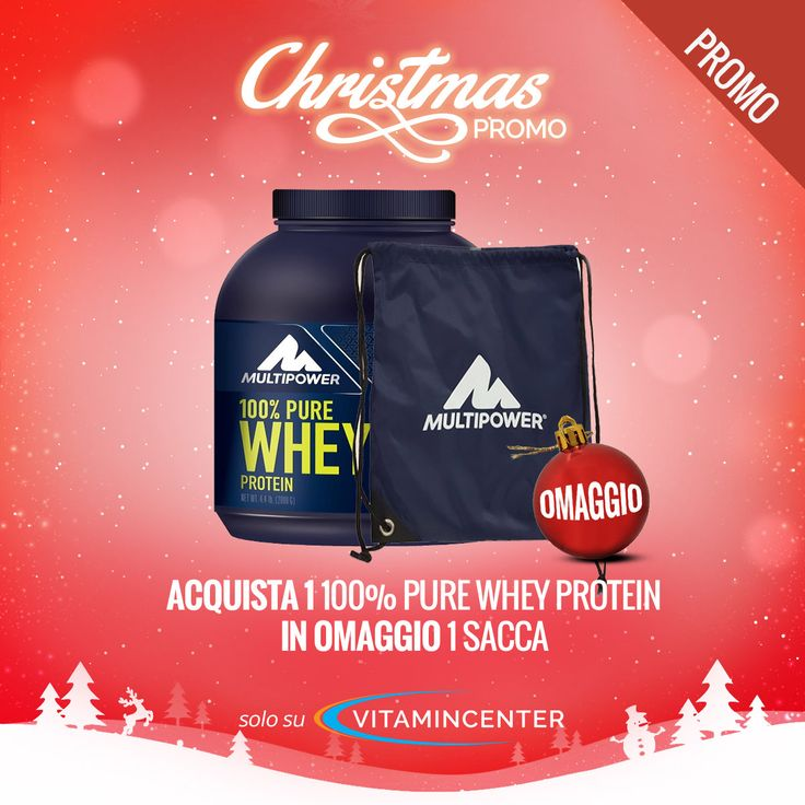#CHRISTMASPROMO #VITAMINCENTER - #MULTIPOWER* Acquista un 100% Pure Whey Protein 2 Kg => 1 Sacca MultiPower IN OMAGGIO! Solo su #VitaminCenter!