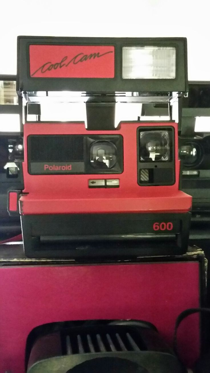 Found this awesome cool cam red Polaroid 600 camera.For sale if interested.