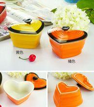 Suikergoed glazuur keramische servies magnetron gebakken geroosterde oren lidded cup pudding dessert kom kommen(China (Mainland))