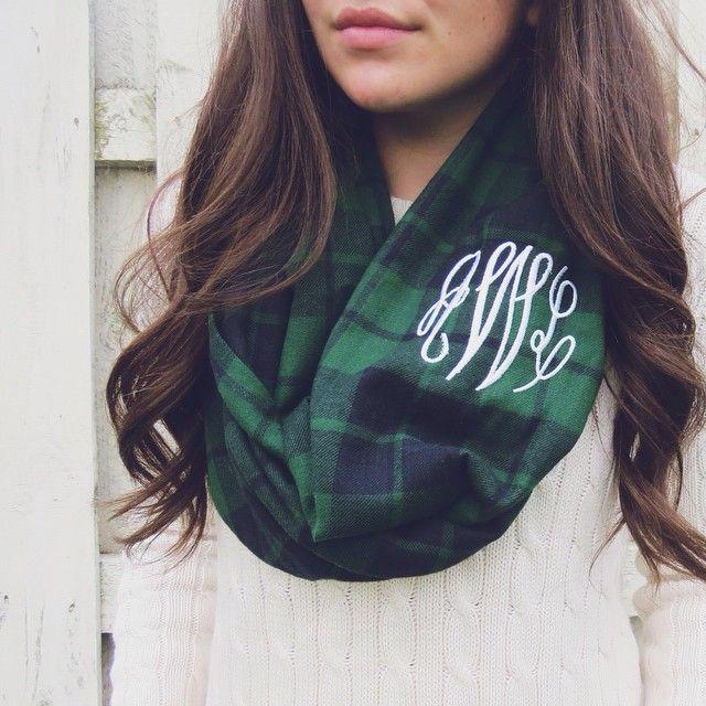 Monogrammed @bowsandkites scarf {use code belleoftheball45 for 15% off }