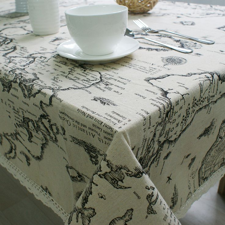 Linen Table Cloth Tablecloth Table Cover Map Printed Black  Toalha De Mesa Manteles Para Mesa Sequin Tablecloth