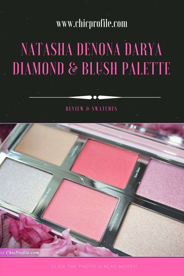 Natasha Denona Darya Diamond & Blush Palette ($89.00 for 6 pcs x 7g / 0.25 oz) includes six shades in creamy and powder formulas. We have a creamy base highlighter, cream blush, powder blush and three highlighters with different texture.  via @Chicprofile