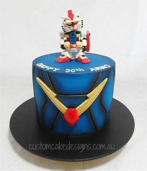 Anime Gundam Cake by Custom Cake Designs