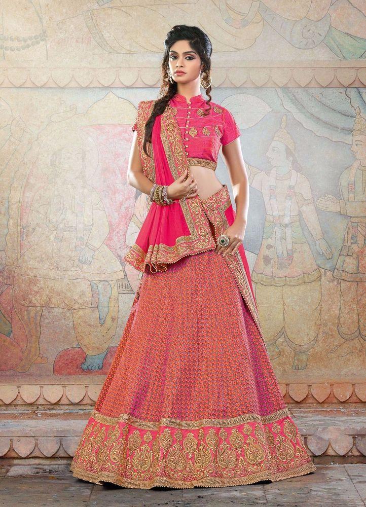 Wedding Bridal Bollywood Pakistani Lehenga Choli wear Indian Ethnic Traditional