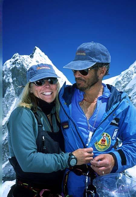 Susan and Phil Ershler on Mt. Everest.: Photo