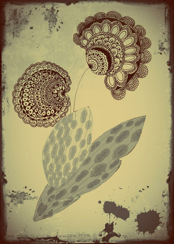Lace Flower. Drawing design by Hammi´s Design.
