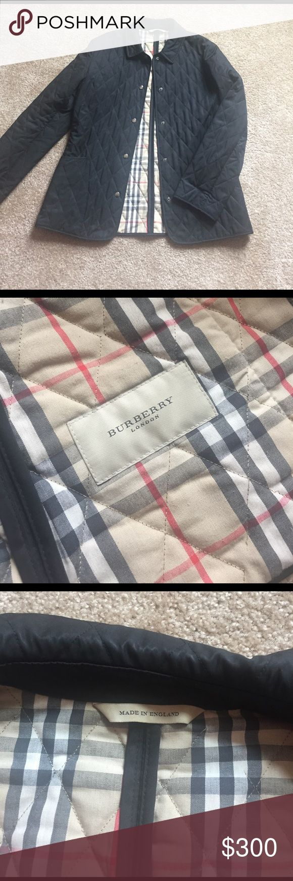 Burberry quilted jacket Burberry London quilted jacket. Very gently used condition. I am the second owner and it was never used by me. Burberry Jackets & Coats