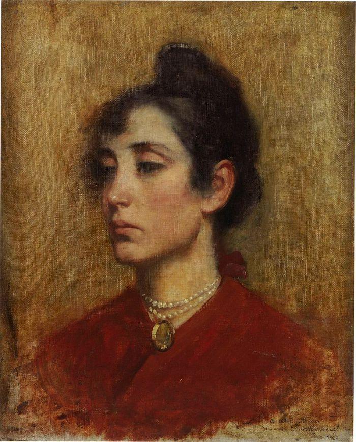 """The Portrait of Mrs. Ettinger"" by Samuel Hirszenberg (Polish-Jewish,1865-1908; Museum of Jewish Art and History, Paris."