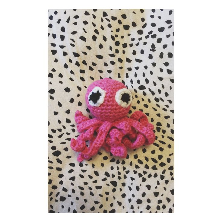Little crochet octopus for my little niece.❤️